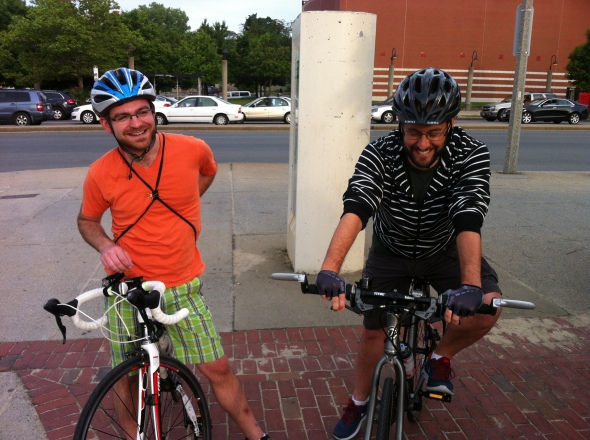 Mitch and James ready to ride